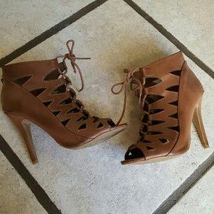 Chinese Laundry peep toe booties heels